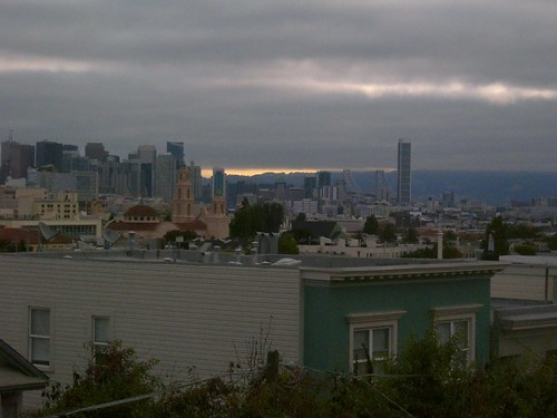 SF skyline, morning, august 2010