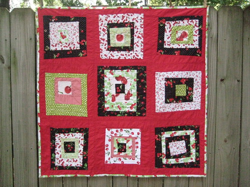 Cherry baby quilt finished