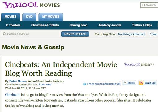 Cinebeats@ Yahoo