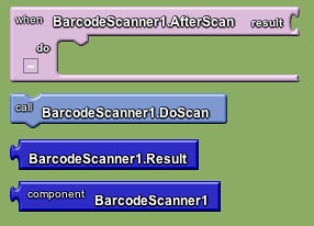 Google app inventor - barcode scanner block