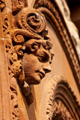 Cambridge Public Library - terra cotta head