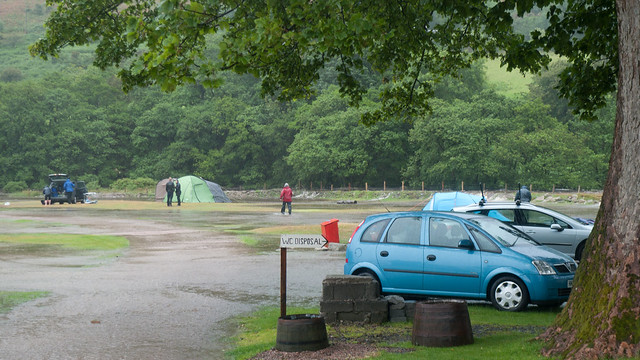 Another view of the flooded campsite