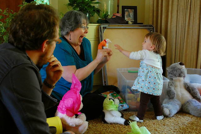 Grandma makes up the funnest games.