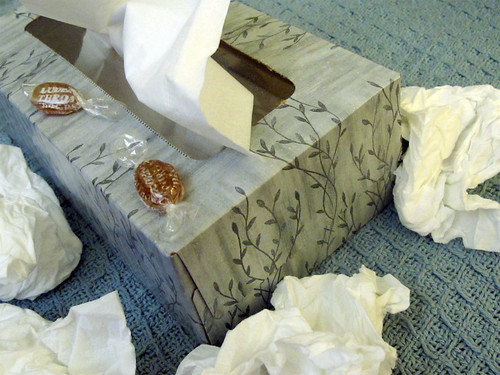 Day 232 / 365 - Sick. Return of the tissue mountain...