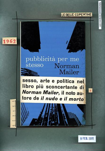 Norman Mailer, Pubblicità per me stesso, Lerici 1968. Sovracoperta con fascetta (part.)