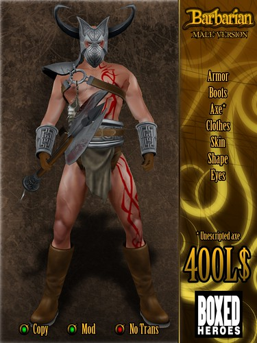 Barbarian Male Avatar Vendor