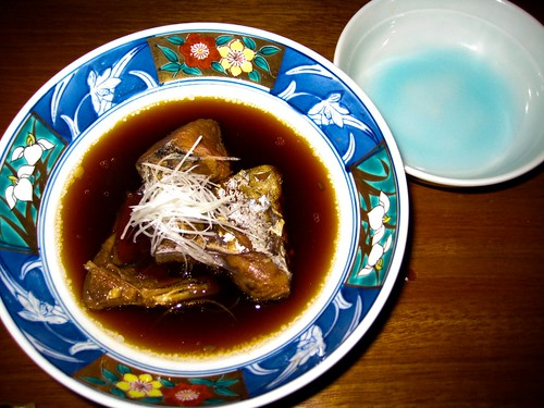 simmered fish head in sweet sauce