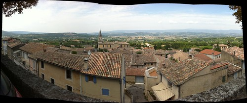 View from our lunch spot, Bonnieux, France