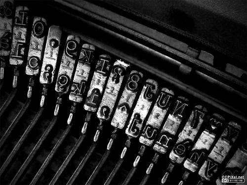 typewriter keystrikes