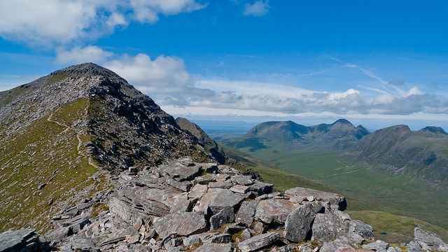 View to Liathach's first top