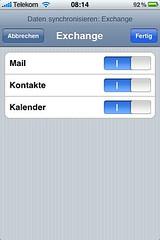 iPhone: Was soll synchronisiert werden?