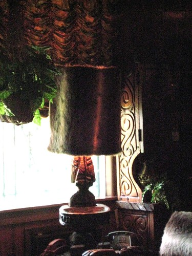 Jungle room fur lamp
