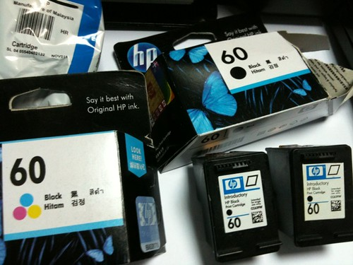 Fake HP Cartridge No 60 Sold At Blue Area IT Shop, Bengang Giler Aku, Seb Baik Tak Rosak Printer Je by KNizam Artwerk