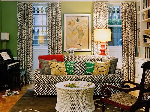Ellen Hamilton pattern living room
