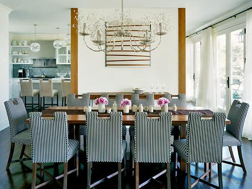 Ellen Hamilton striped dining chairs