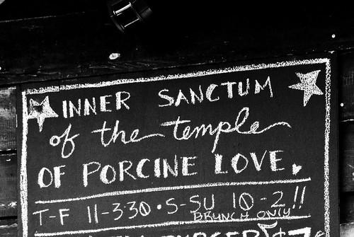 Inner Sanctum of the Temple of Porcine Love
