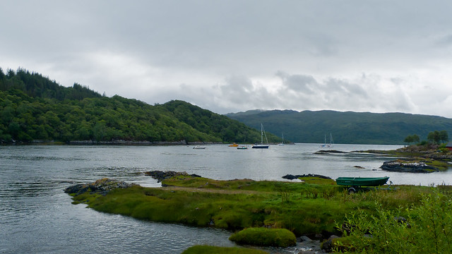 Salen, in the east of Ardnamurchan, where I stopped for lunch