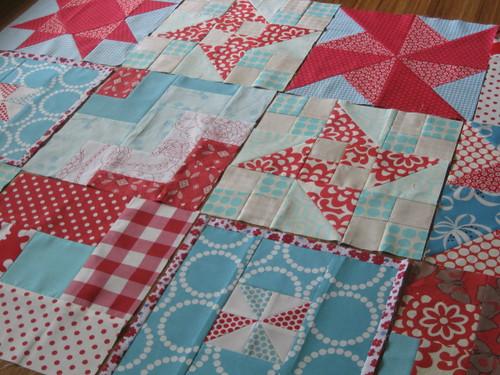 Red & Aqua blocks