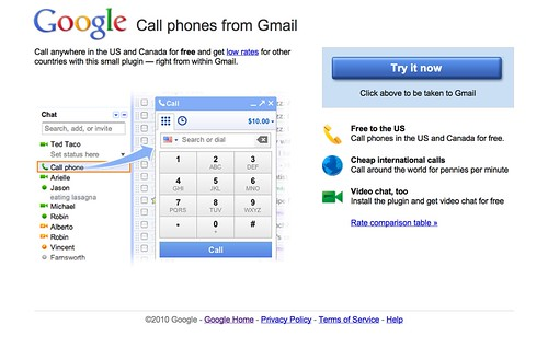 Cool Toys Pic of the day - Call Phones from GMail