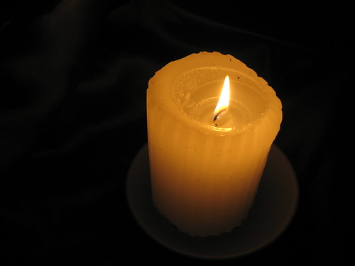 meditation by candlelight