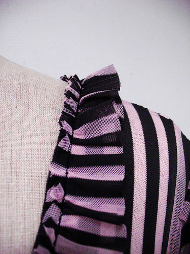 striped dress - ruffle