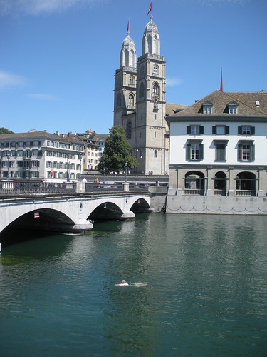 Rosalie floating down the Limmat