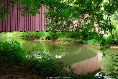 Mercer Covered Bridge HDR 03 (Reflections)