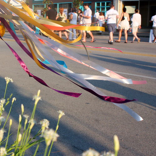 streamers in the wind