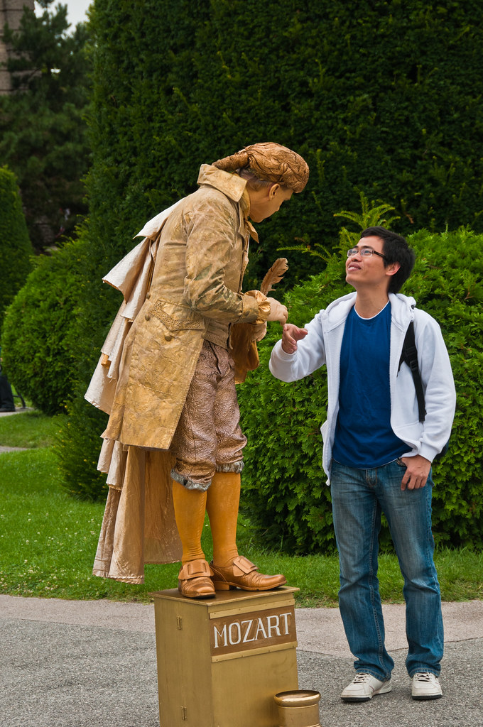 Whistling Mozart will shake your hand
