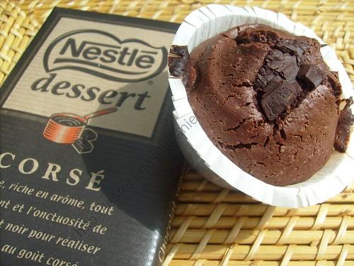 Muffins au coeur de chocolat / Chocolate heart muffins