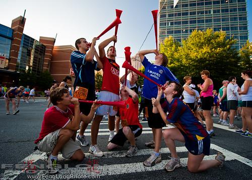 Vuvuzelas at the Peachtree Road Race in Buckhead - Atlanta, GA