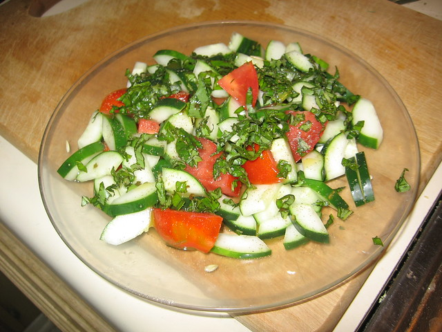 Cucumber/tomato salad
