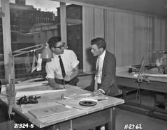 Empleados del Departamento de Ingeniería, 1962