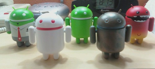 Android mini collectibles figures by heath_bar, on Flickr