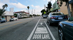 Santa Monica Door Lane / Bike Lane