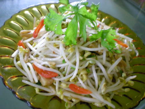 STP's fried bean sprouts with salted fish 2