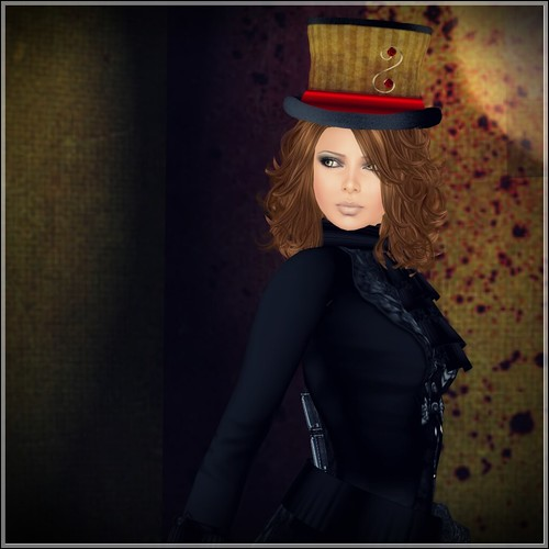 Hatpins - Lady Isolde Copper and Red - LOW