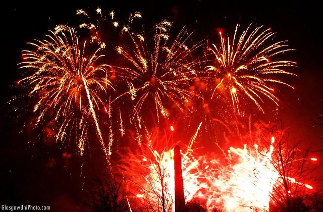 Fireworks at Glasgow Green