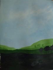"""Art practice: """"Blue Sky, Green Fields"""" (5 of 7)"""