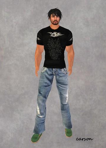 SB Petrol jeans black t-shirt