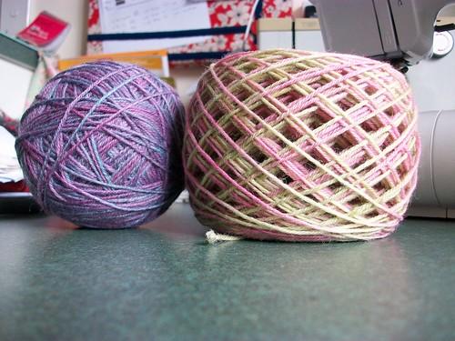 Handdyed sock wool