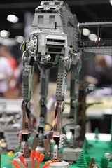 An AT-AT made of Lego from GFLUG