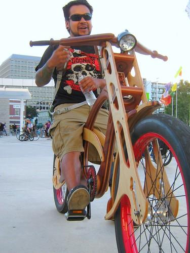 Handmade wood laminate bike