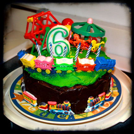 fun carnival train birthday cake for 6 year old boy ttv