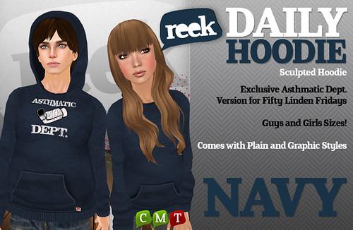 Reek - Daily Hoodie - Navy