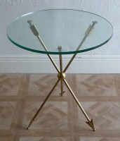 brass arrows accent table
