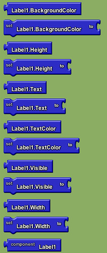 Google app inventor - labels
