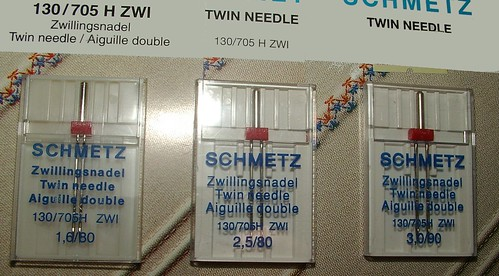 double needles in 3 sizes
