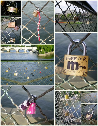 Lovelocks on Pont des Arts
