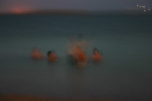 Blurry sea
